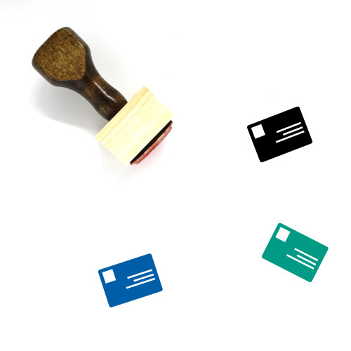 Identity Card Wooden Rubber Stamp No. 88