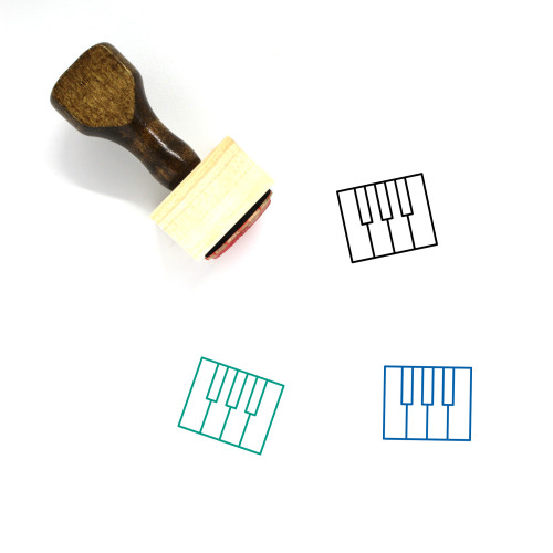 Piano Wooden Rubber Stamp No. 66