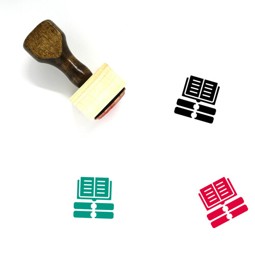 Open Book Wooden Rubber Stamp No. 26