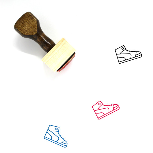 High Sneakers Wooden Rubber Stamp No. 3