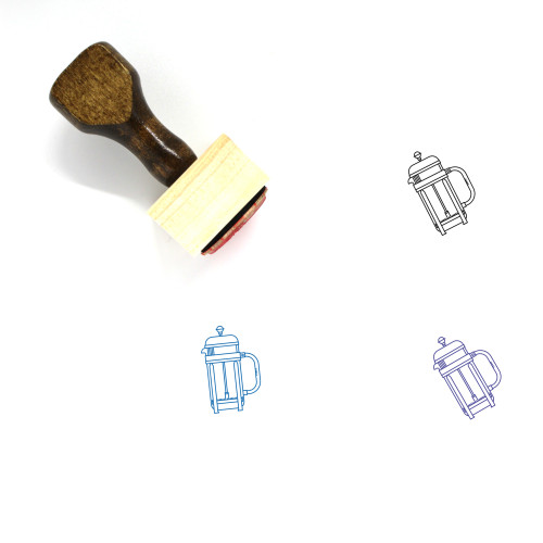 French Press Wooden Rubber Stamp No. 15