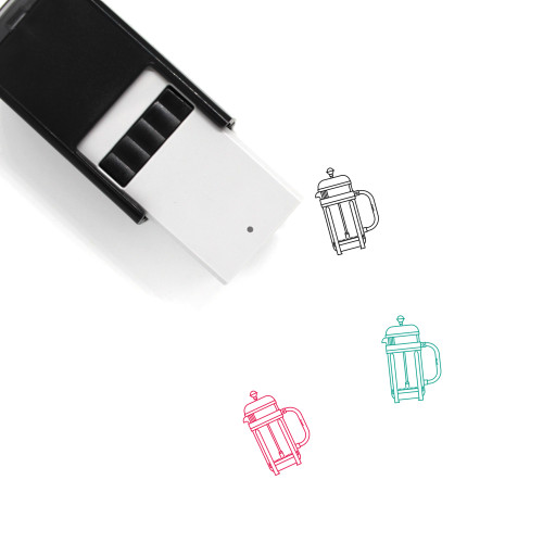 French Press Self-Inking Rubber Stamp No. 15