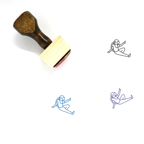 Astronaut Wooden Rubber Stamp No. 72