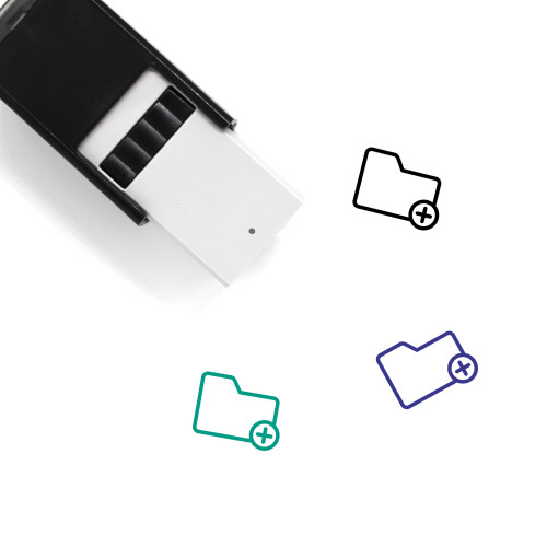 Folder Add Self-Inking Rubber Stamp No. 37
