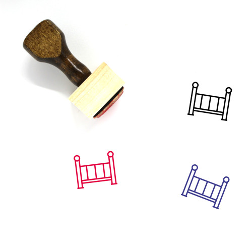 Crib Wooden Rubber Stamp No. 41