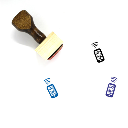 Mobile Payment Wooden Rubber Stamp No. 49