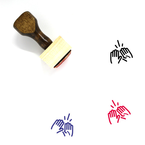 High Five Wooden Rubber Stamp No. 48