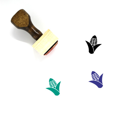 Corn Wooden Rubber Stamp No. 100