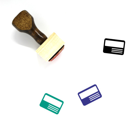 Identification Wooden Rubber Stamp No. 82