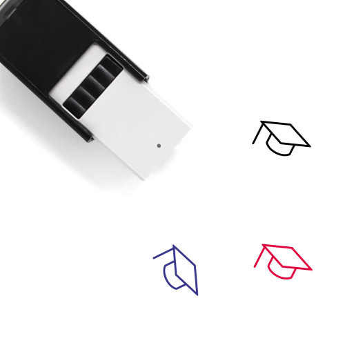 Mortar Board Self-Inking Rubber Stamp No. 49