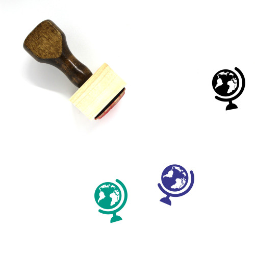 Globe Wooden Rubber Stamp No. 1341