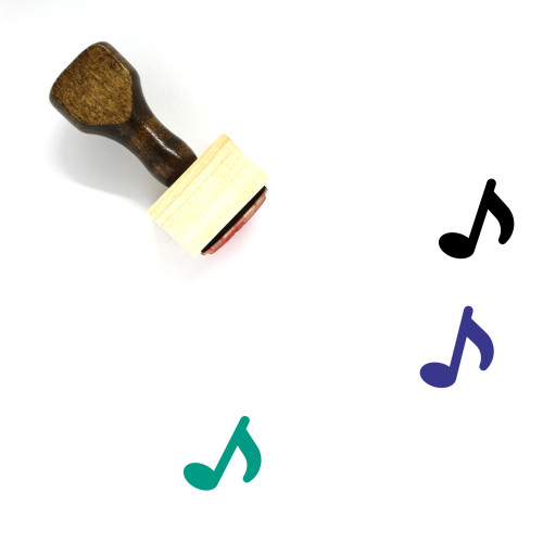 Music Wooden Rubber Stamp No. 166