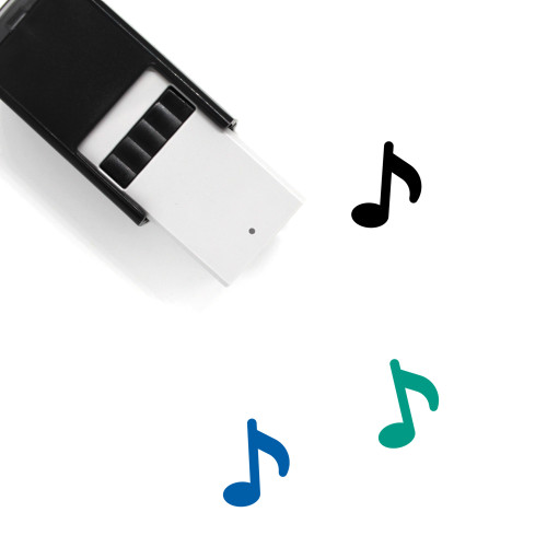Music Self-Inking Rubber Stamp No. 166
