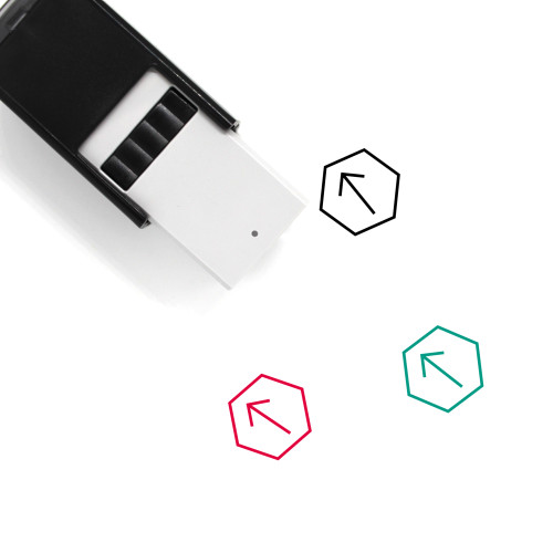 Arrow Top Left Self-Inking Rubber Stamp No. 3