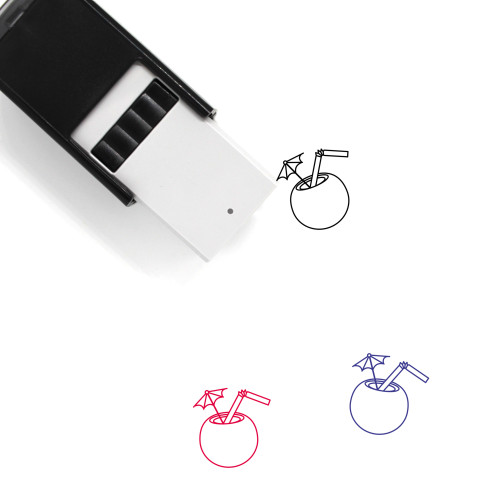 Coconut Drink Self-Inking Rubber Stamp No. 39