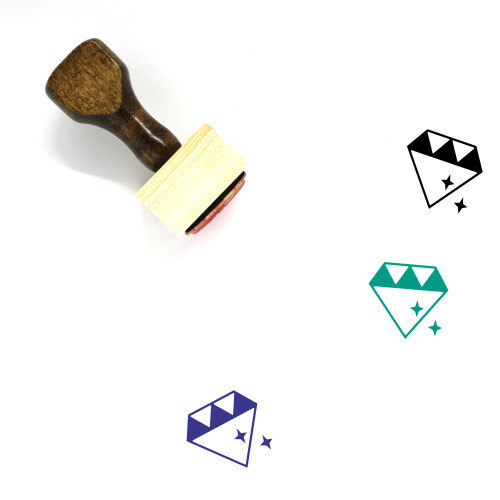Diamond Wooden Rubber Stamp No. 150