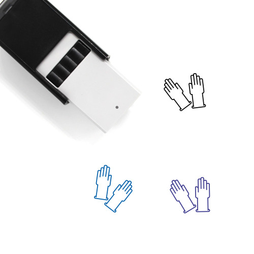 Gloves Self-Inking Rubber Stamp No. 66