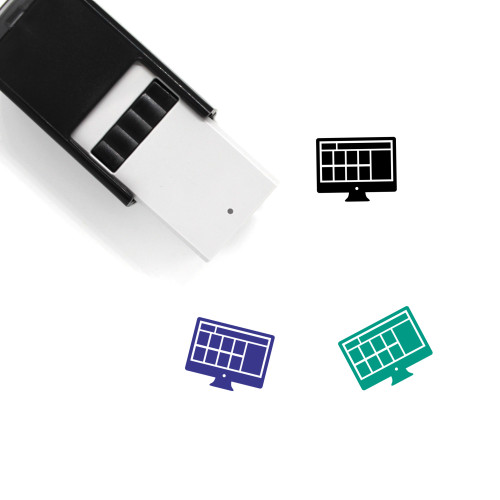 Web Design Self-Inking Rubber Stamp No. 58