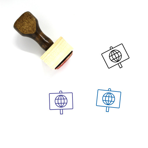 Economic Protest Wooden Rubber Stamp No. 1