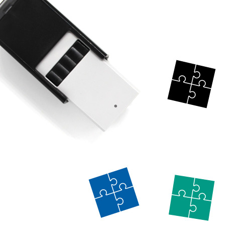 Jigsaw Puzzle Self-Inking Rubber Stamp No. 40