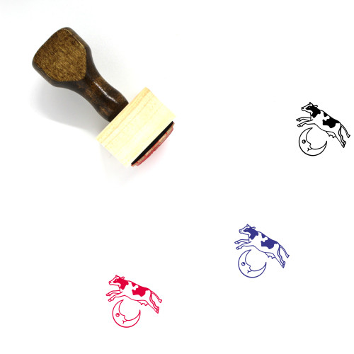 Cow Wooden Rubber Stamp No. 27
