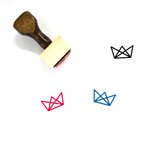 Crown Wooden Rubber Stamp No. 1138