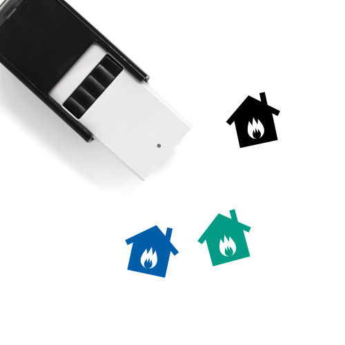 House Fire Self-Inking Rubber Stamp No. 24