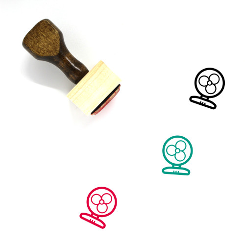 Fan Wooden Rubber Stamp No. 114