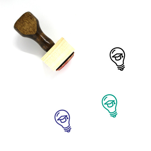 Light Bulb Wooden Rubber Stamp No. 371