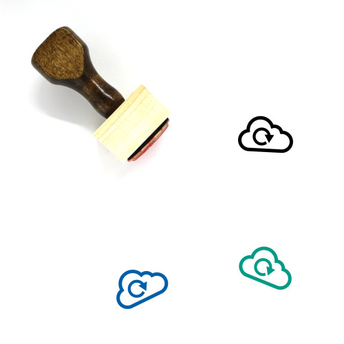 Cloud Refresh Wooden Rubber Stamp No. 40