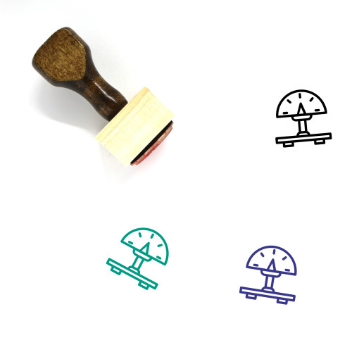 Luggage Scale Wooden Rubber Stamp No. 18
