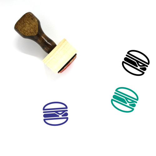 Cheeseburger Wooden Rubber Stamp No. 38