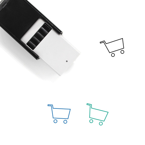 Shopping Cart Self-Inking Rubber Stamp No. 317