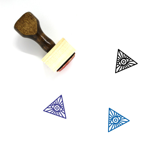 Eye Of Providence Wooden Rubber Stamp No. 30