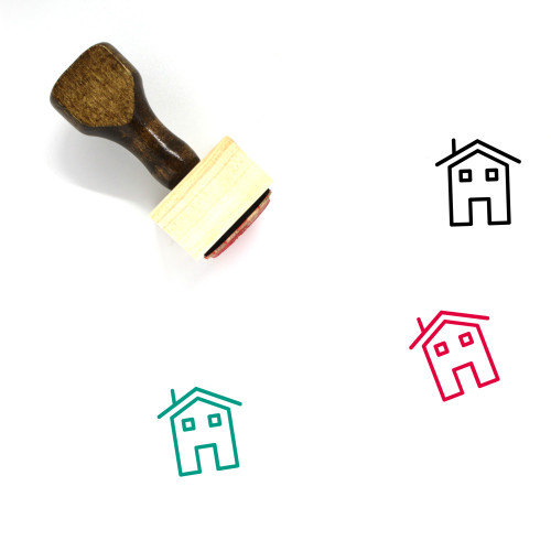House Wooden Rubber Stamp No. 432