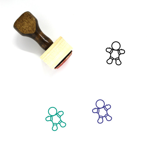 Gingerbread Cookie Wooden Rubber Stamp No. 18