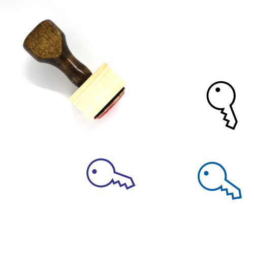 Key Wooden Rubber Stamp No. 174