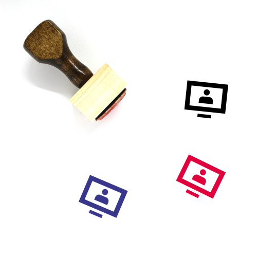 Cable Tv Wooden Rubber Stamp No. 1