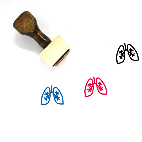 Lungs Wooden Rubber Stamp No. 70