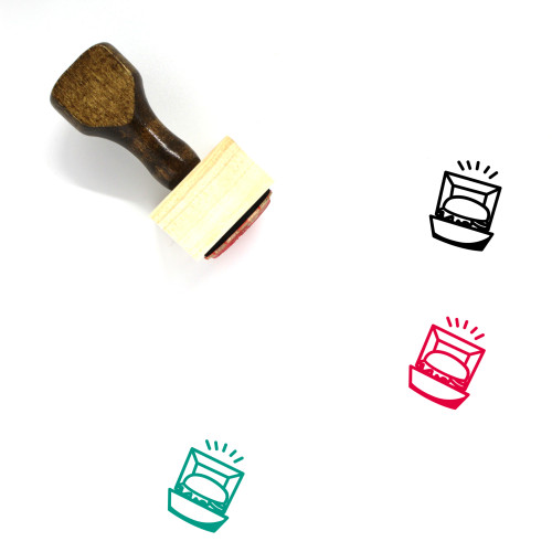 Burger Box Wooden Rubber Stamp No. 5