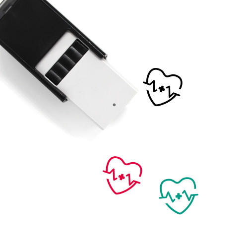 Heart Beat Self-Inking Rubber Stamp No. 42