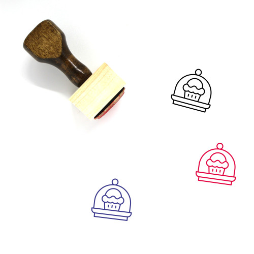 Cake Stand Wooden Rubber Stamp No. 6