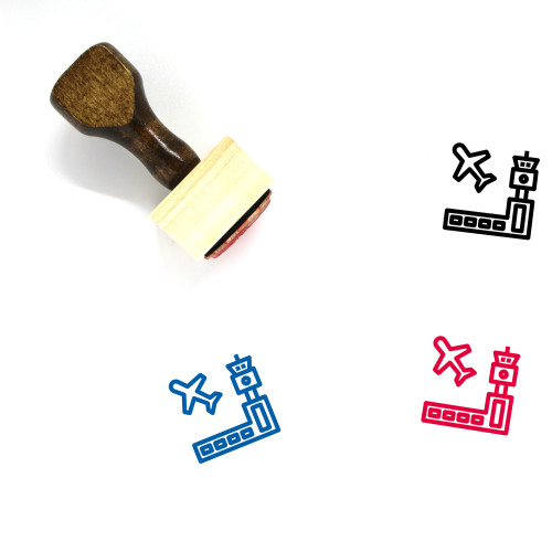 Airport Wooden Rubber Stamp No. 103