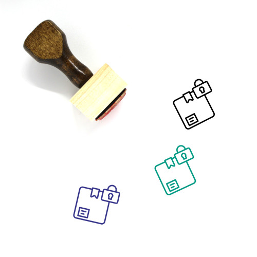 Lock Delivery Wooden Rubber Stamp No. 2