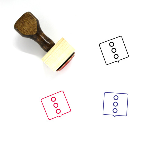 More Wooden Rubber Stamp No. 125
