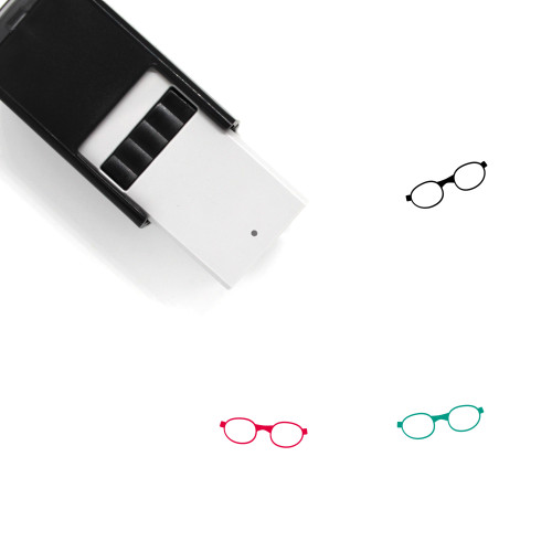 Glasses Self-Inking Rubber Stamp No. 284