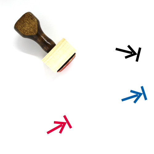Right Direction Wooden Rubber Stamp No. 39