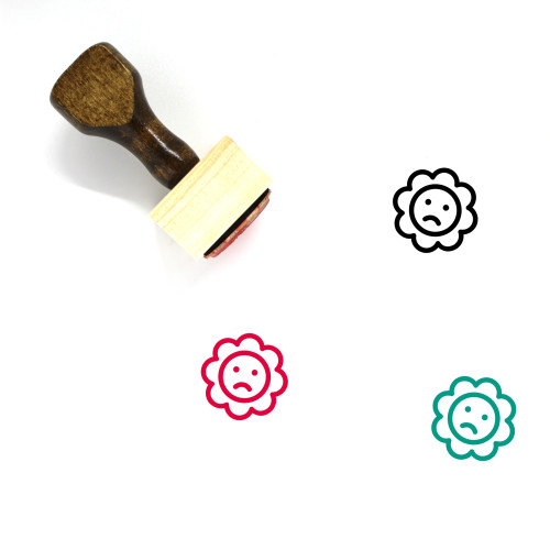 Rattle Wooden Rubber Stamp No. 26