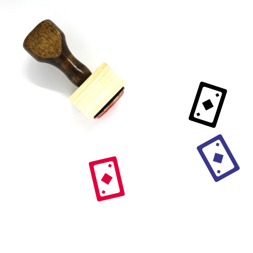 Cards Wooden Rubber Stamp No. 39
