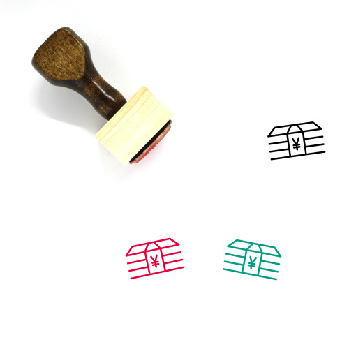 Stack Wooden Rubber Stamp No. 37